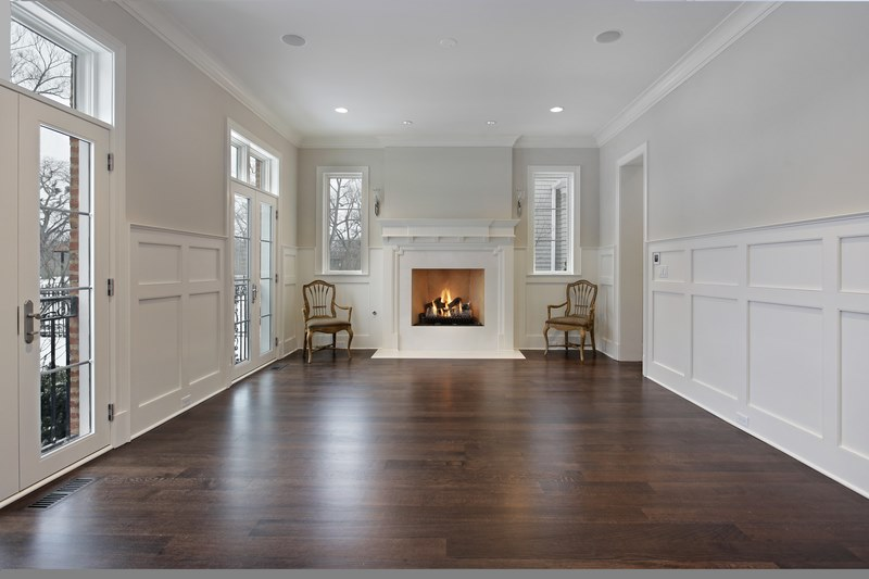 Living room with wooden flooring