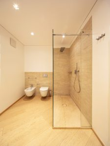 modern flooring in a bathroom